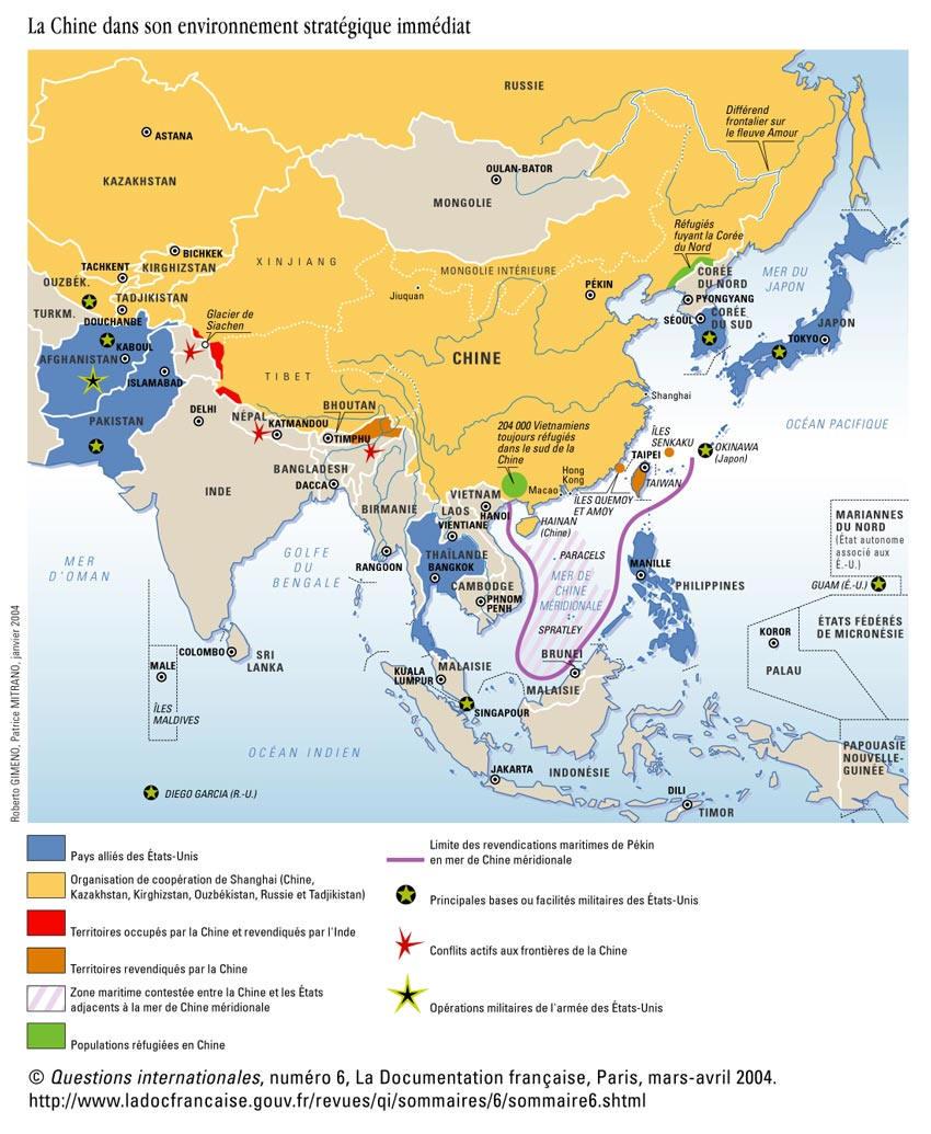 Carte Chine Ming.Tibet Chine Ecjs St Louis Ste Marie